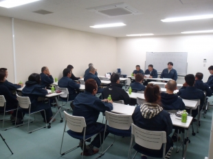 画像:平成28年11月度社内安全会議開催2