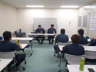 画像:平成29年9月度社内安全会議1