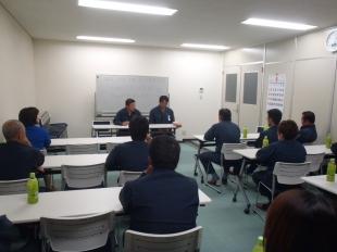 画像:平成29年9月度社内安全会議2